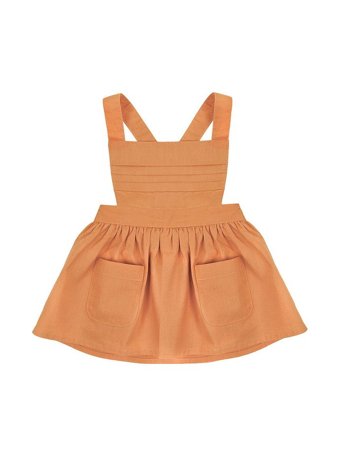 APRICOT SKIRT WITH STRAPS