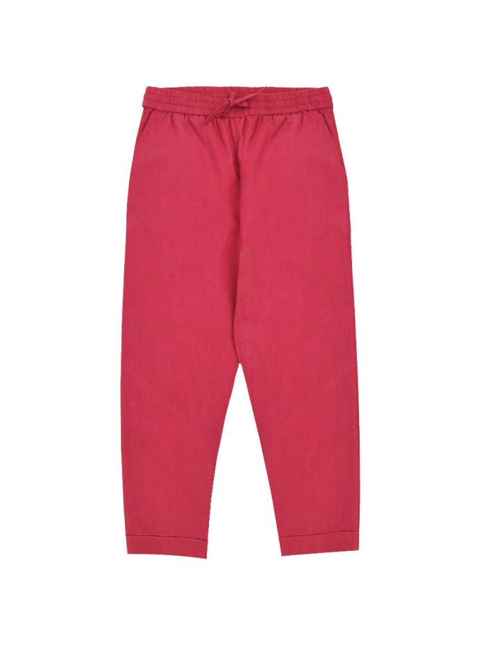 BERRY TROUSERS WITH BOW