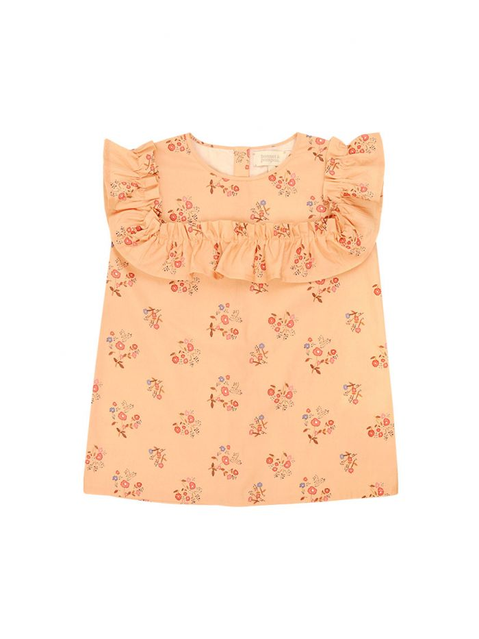 BOUQUET OF FLOWERS BLOUSE GIRL